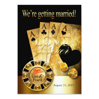 Las Vegas Deluxe Wedding | gold black Card