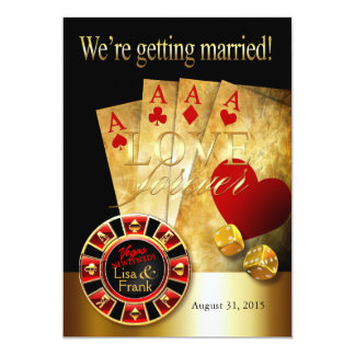 Las Vegas Deluxe Wedding | red gold black Card