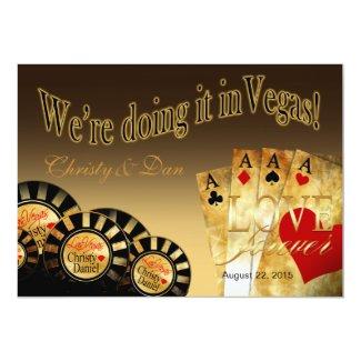 Las Vegas Deluxe Wedding   sand Card