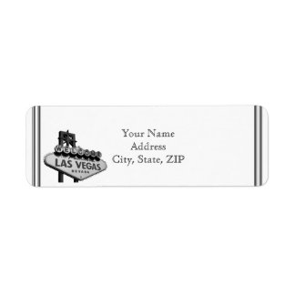 Las Vegas Destination Return Address Label