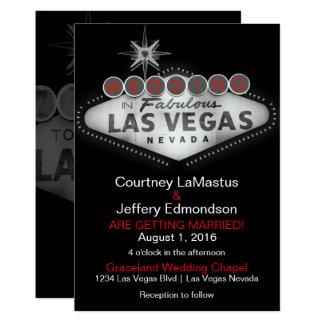 Las Vegas Destination Wedding Invitation