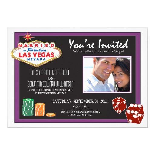 Las Vegas Destination Wedding Invitation (purple)