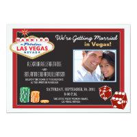 Las Vegas Destination Wedding Invitation (red)