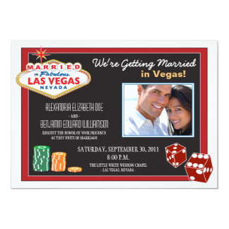 Las Vegas Destination Wedding Invitation (red)