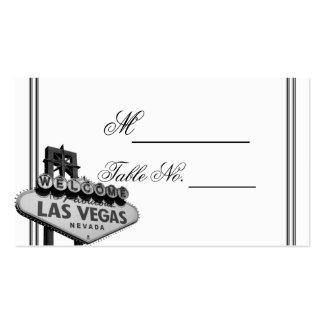 Las Vegas Destination Wedding Place Card Business Card