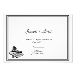 Las Vegas Destination Wedding Response Card
