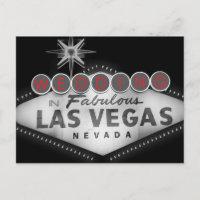 Las Vegas Destination Wedding RSVP Invitation Postcard