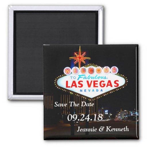 Las Vegas Destination Wedding Save The Date Magnet Zazzle