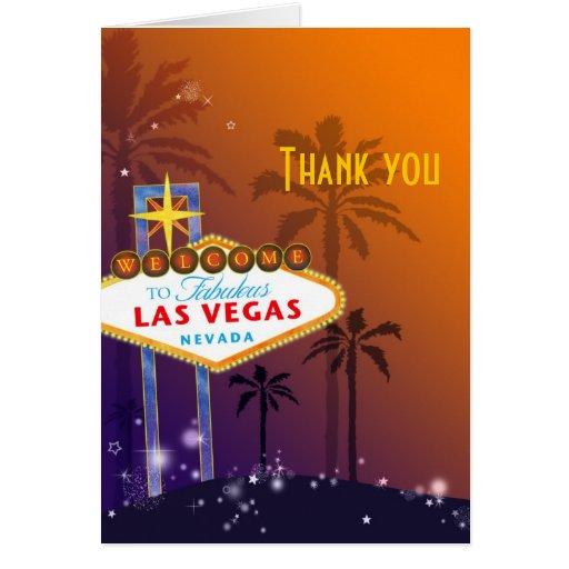 Las Vegas Destination Wedding Thank You Cards