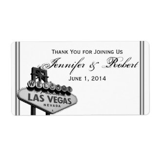Las Vegas Destination Wedding Water Bottle Label