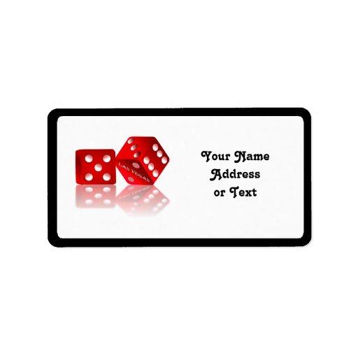 Las Vegas Dice Address Label