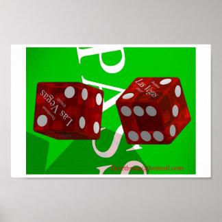 Las Vegas Dice  I (print) Poster