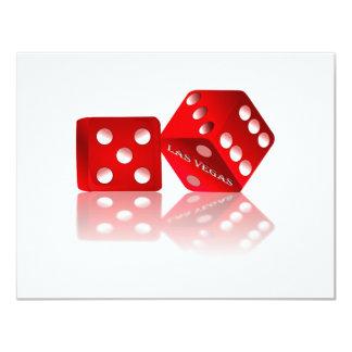 Las Vegas Dice 4.25x5.5 Paper Invitation Card