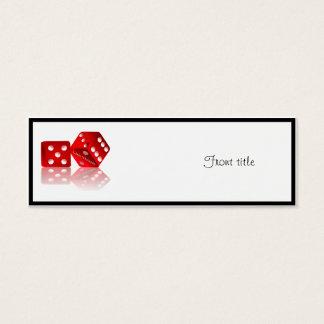 Las Vegas Dice Mini Business Card