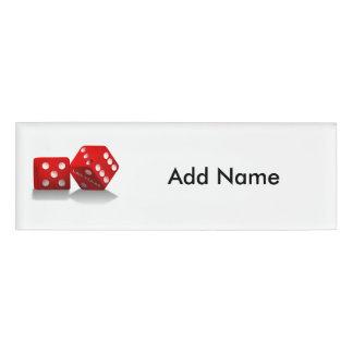 Las Vegas Dice Name Tag