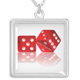Las Vegas Dice Square Pendant Necklace