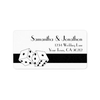 Las Vegas Dice Theme White and Black Label