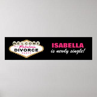 Las Vegas Divorce Party Banner Poster