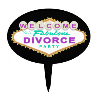 Las Vegas Divorce Party Cake Topper