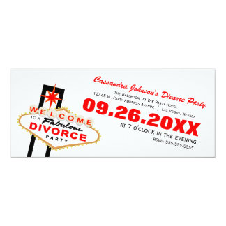 Las Vegas Divorce Party Invitation