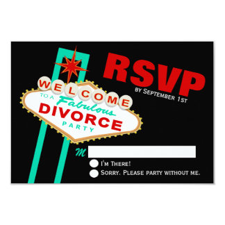 Las Vegas Divorce Party RSVP Card