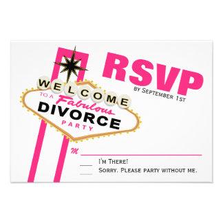 Las Vegas Divorce Party RSVP Announcement