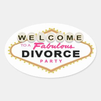 Las Vegas Divorce Party Stickers
