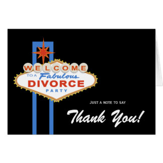 Las Vegas Divorce Party Thank You Note Card