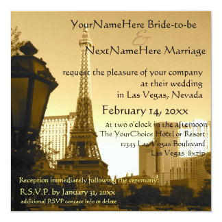 Las Vegas Eiffel Tower Paris Theme Card