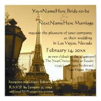 Las Vegas Eiffel Tower Paris Theme Invitation