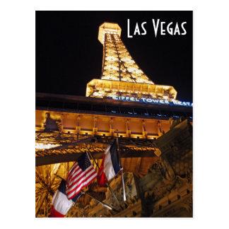 Las Vegas Eiffel Tower Postcard