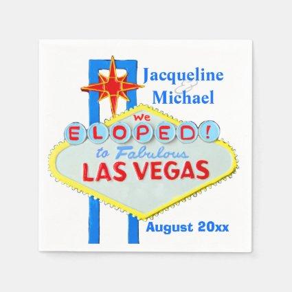 Las Vegas Elope Announcement Paper Napkins