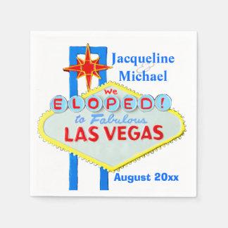 Las Vegas Elope Announcement Standard Cocktail Napkin