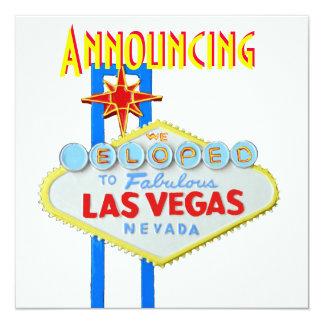 Las Vegas Elope invitación del boda