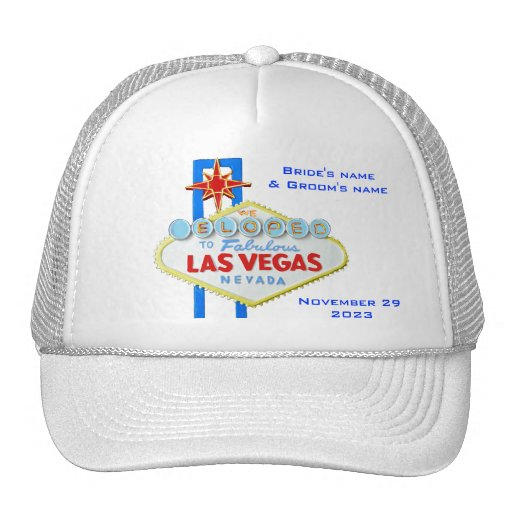 Las Vegas Elope invitación Gorros