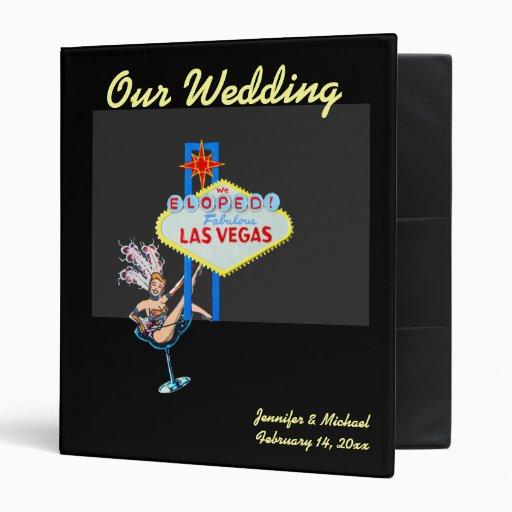 Las Vegas Eloped 3 Ring Binder Zazzle