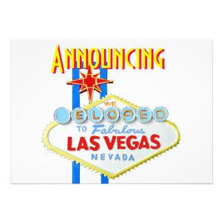 Las Vegas Eloped invitación del boda