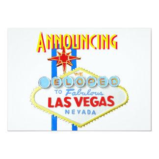 Las Vegas Eloped invitación del boda Invitación 12,7 X 17,8 Cm