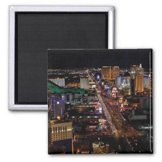 Las Vegas en la noche Imanes De Nevera