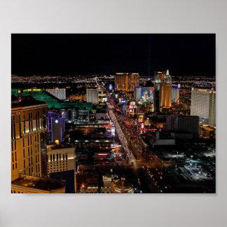 Las Vegas en la noche Posters