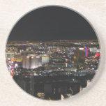 Las Vegas en la noche Posavaso Para Bebida