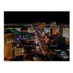 Las Vegas en la noche Tarjetas Postales