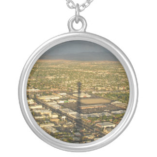Las Vegas Evening Round Pendant Necklace