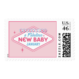 Las Vegas Expecting Custom Month Stamps