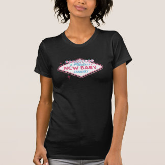 Las Vegas Expecting Custom Month T-Shirt