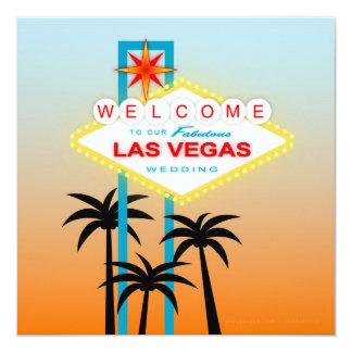 Las Vegas fabuloso que casa la invitación