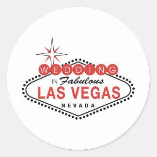 Las Vegas fabuloso que casa personalizable de la Pegatina Redonda
