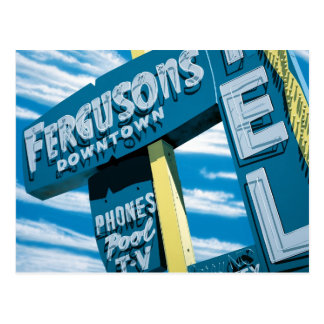 Las Vegas Fergusons Motel Retro Neon Sign Postcard