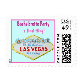 Las Vegas Final Fling Bachelorette Postage Stamps