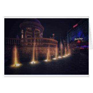 Las Vegas Flamingo Hotel Fountain Architecture Card